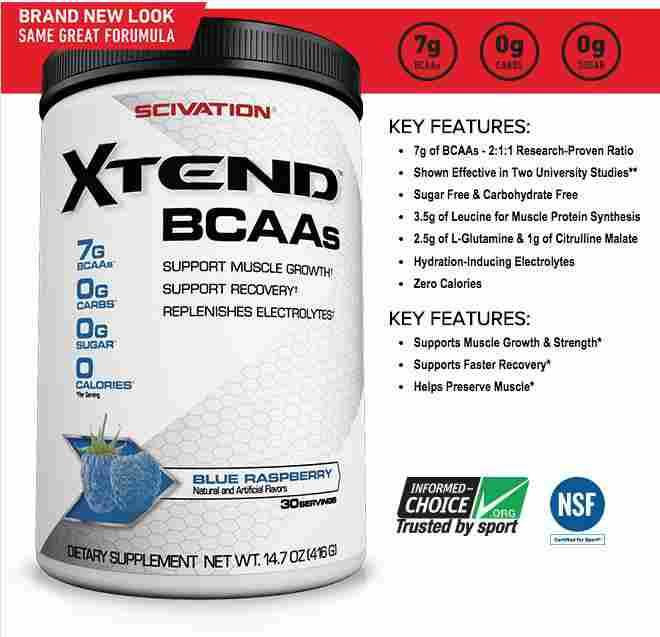Scivation Xtend Ripped BCAA 30 serv