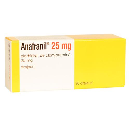 efecte secundare anafranil pierderea în greutate