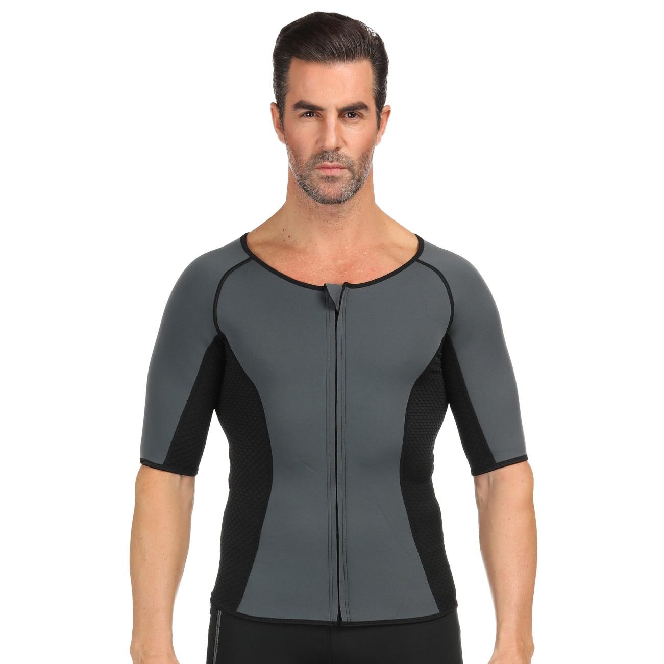 Costum sauna, unisex, premium, pentru slabit, masura M, culoare gri, format din 2 parti