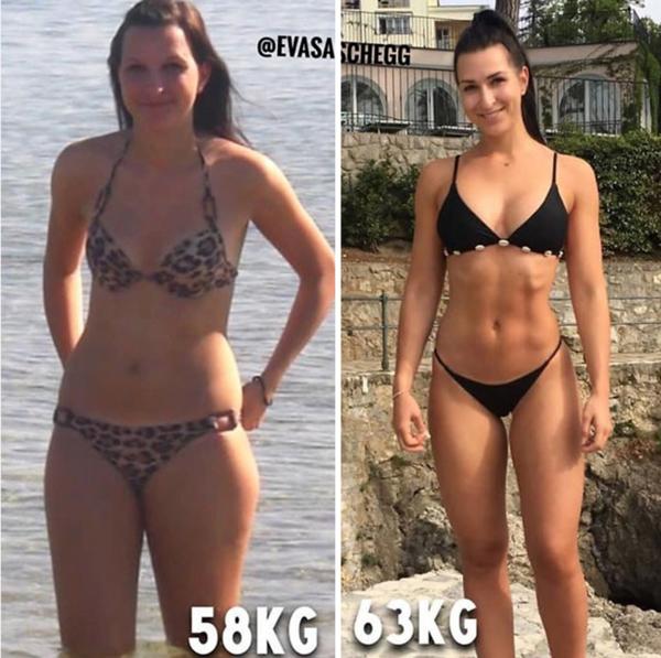 20 kilograme diferență de pierdere în greutate)