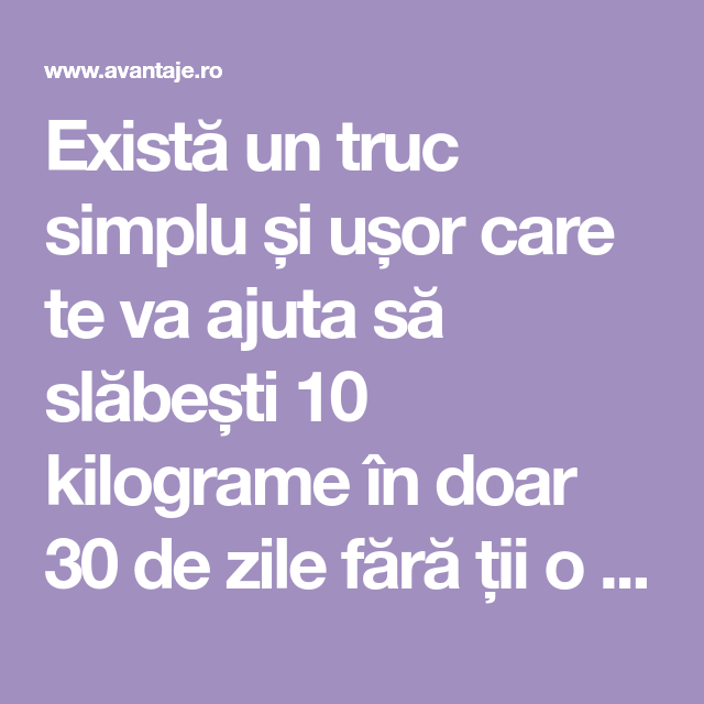 cum să slăbești simplu și ușor)