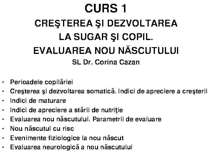 (DOC) CURS I Obiectivele puericulturii | Ioana Basarab - alegsatraiesc.ro