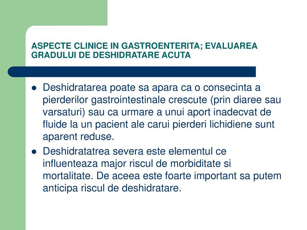 Deshidratarea în bolile inflamatorii intestinale - Studii Clinice