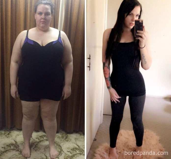 Pierdere în greutate de 82 de kilograme)