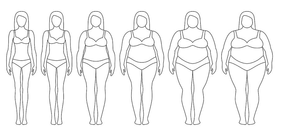 scădere în greutate a persoanei scurte
