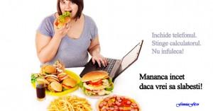 nu mănânc suficient pentru a slăbi)